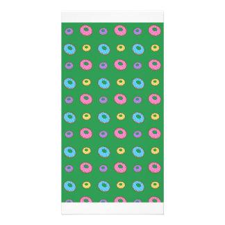 Modelo verde del buñuelo tarjeta fotográfica