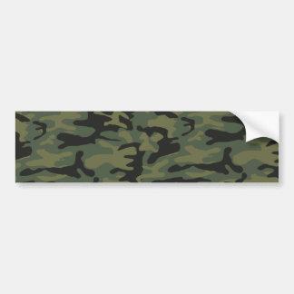 Modelo verde del camo etiqueta de parachoque