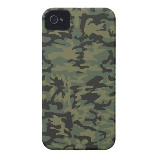 Modelo verde del camo iPhone 4 Case-Mate cárcasas