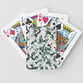 Modelo verde del camuflaje baraja de cartas