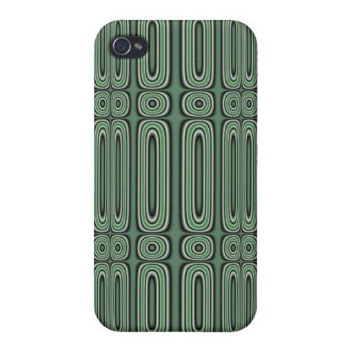 Modelo verde del círculo iPhone 4 cárcasa