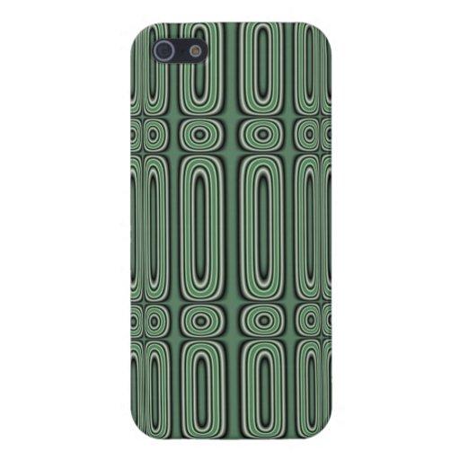 Modelo verde del círculo iPhone 5 cobertura