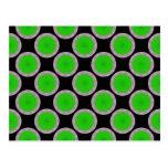 modelo verde del círculo postales