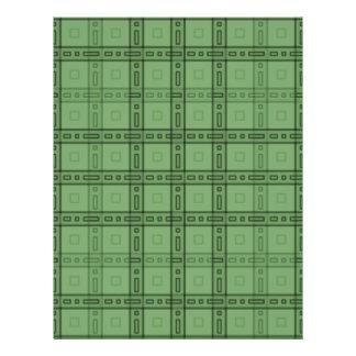 """Modelo verde del control folleto 8.5"""" x 11"""""""