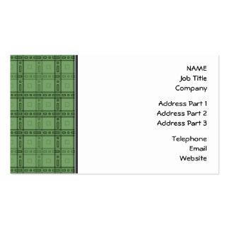 Modelo verde del control tarjetas de visita