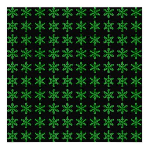 Modelo verde del copo de nieve con el fondo negro anuncio