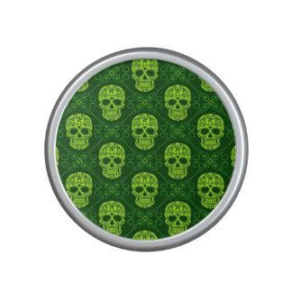 Modelo verde del cráneo del azúcar altavoz