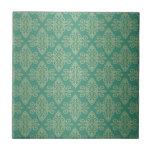 Modelo verde del damasco de Veridian Tejas Ceramicas
