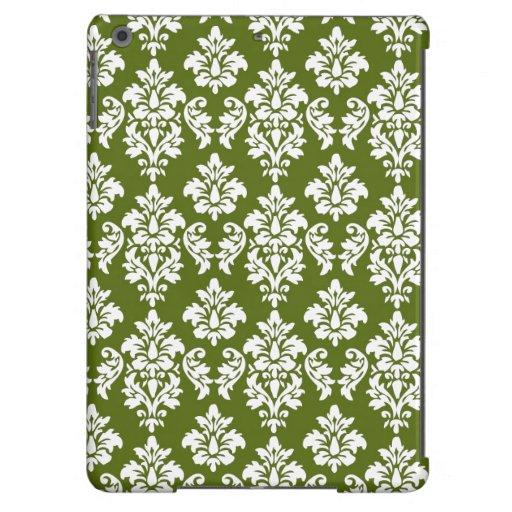 Modelo verde del damasco del vintage