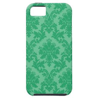 Modelo verde del damasco iPhone 5 carcasa