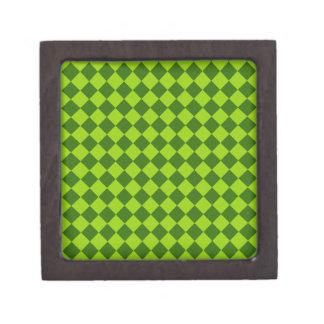 Modelo verde del diamante de la combinación cajas de regalo de calidad
