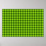 Modelo verde del diamante de la combinación posters