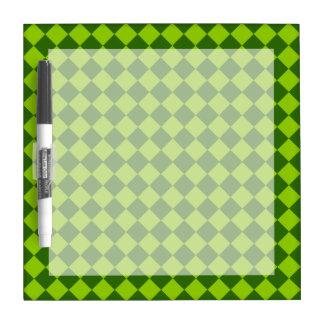 Modelo verde del diamante de la combinación pizarras blancas