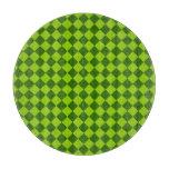 Modelo verde del diamante de la combinación tablas de cortar