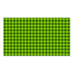 Modelo verde del diamante de la combinación plantillas de tarjetas personales