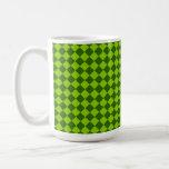 Modelo verde del diamante de la combinación taza de café