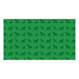 Modelo verde del dogo plantilla de tarjeta de negocio