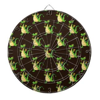 Modelo verde del dragón del dibujo animado