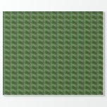 Modelo verde del espiral de la aguja del pino