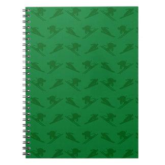 Modelo verde del esquí libro de apuntes