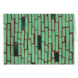Modelo verde del extracto del rectángulo tarjeta pequeña