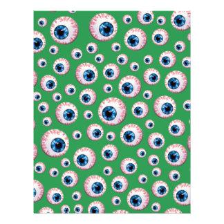 Modelo verde del globo del ojo flyer a todo color
