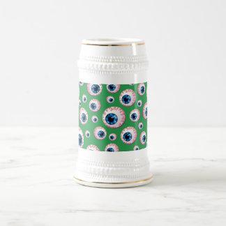Modelo verde del globo del ojo jarra de cerveza