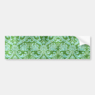 Modelo verde del papel pintado floral del damasco pegatina para auto