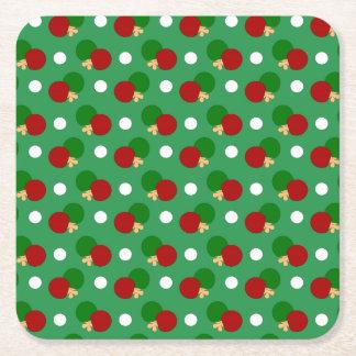 Modelo verde del ping-pong posavasos desechable cuadrado