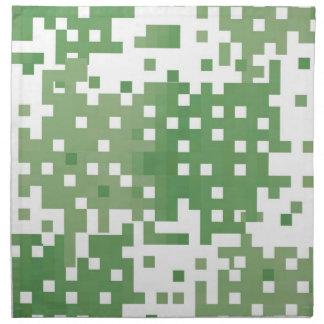 Modelo verde del pixel de Suare Servilletas Imprimidas