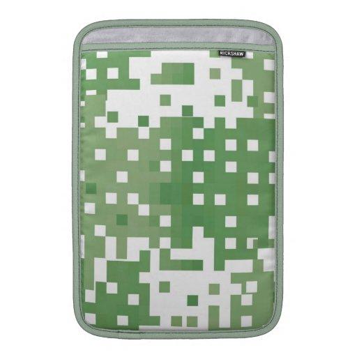 Modelo verde del pixel fundas MacBook