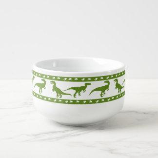 Modelo verde del rapaz cuenco para sopa