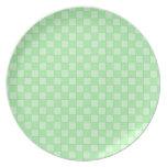 Modelo verde del remiendo plato de comida