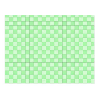 Modelo verde del remiendo tarjetas postales