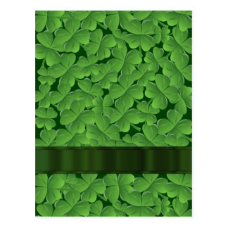 Modelo verde del trébol postales