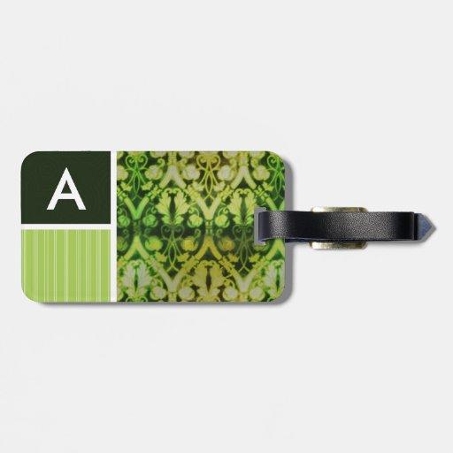 Modelo verde del vintage etiquetas bolsa
