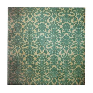 Modelo verde descolorado del papel pintado del dam azulejo cuadrado pequeño