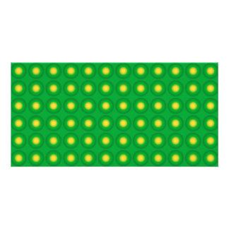 Modelo verde desigual tarjetas fotográficas