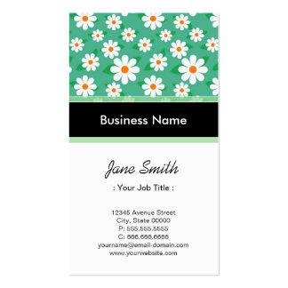 Modelo verde elegante de la margarita del instruct tarjeta de negocio