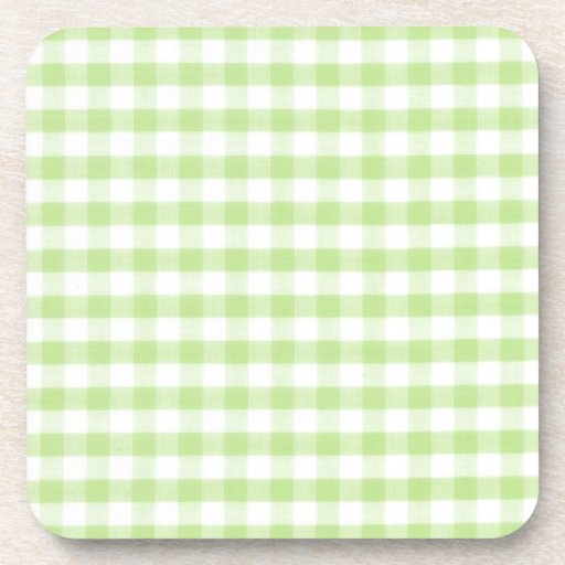 Modelo verde en colores pastel de la guinga posavaso