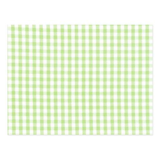 Modelo verde en colores pastel de la guinga postal