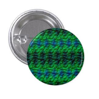 Modelo verde extraño pin redondo 2,5 cm