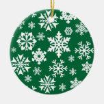 Modelo verde festivo del día de fiesta del navidad ornamento para arbol de navidad