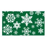 Modelo verde festivo del día de fiesta del navidad tarjetas de visita