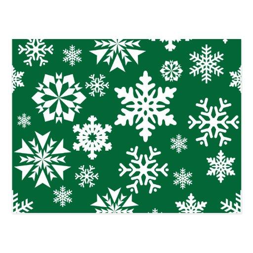 Modelo verde festivo del día de fiesta del navidad tarjeta postal