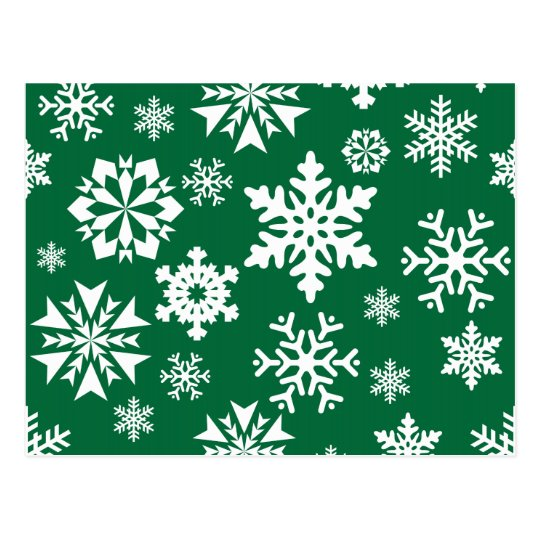 Modelo verde festivo del día de fiesta del navidad tarjetas postales