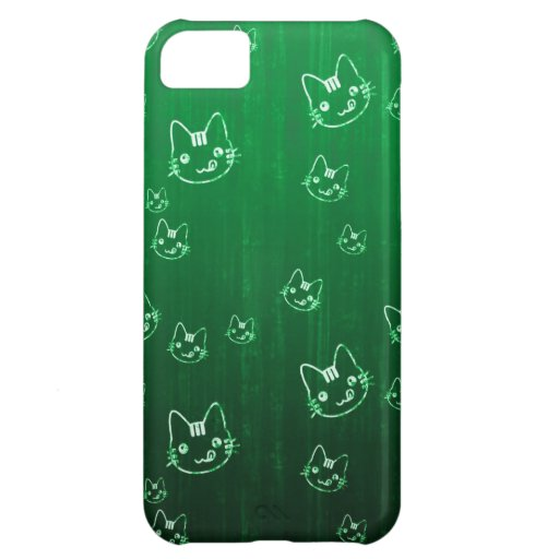 Modelo verde japonés lindo fresco del neko del gat