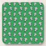 Modelo verde lindo de la panda posavasos