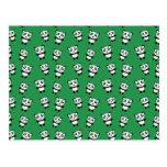 Modelo verde lindo de la panda tarjetas postales