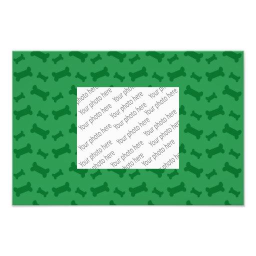 Modelo verde lindo de los huesos de perro arte fotografico